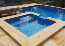 pool cleaning sandstone