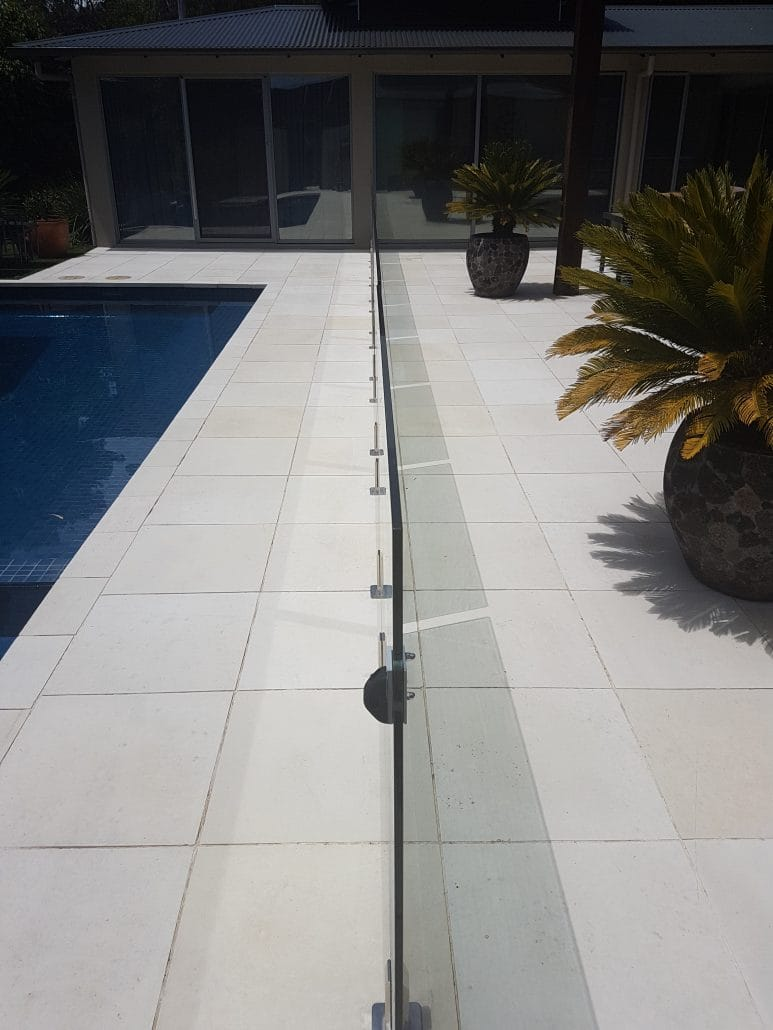pool cleaning, stone pavers
