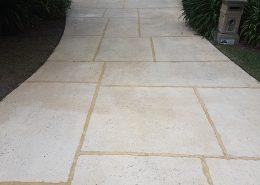 driveway cleaning, limestone